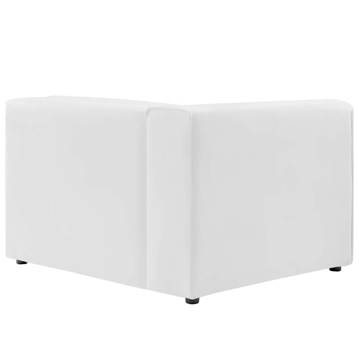 2-Piece Sectional Sofa In White Leather Finish - image-3