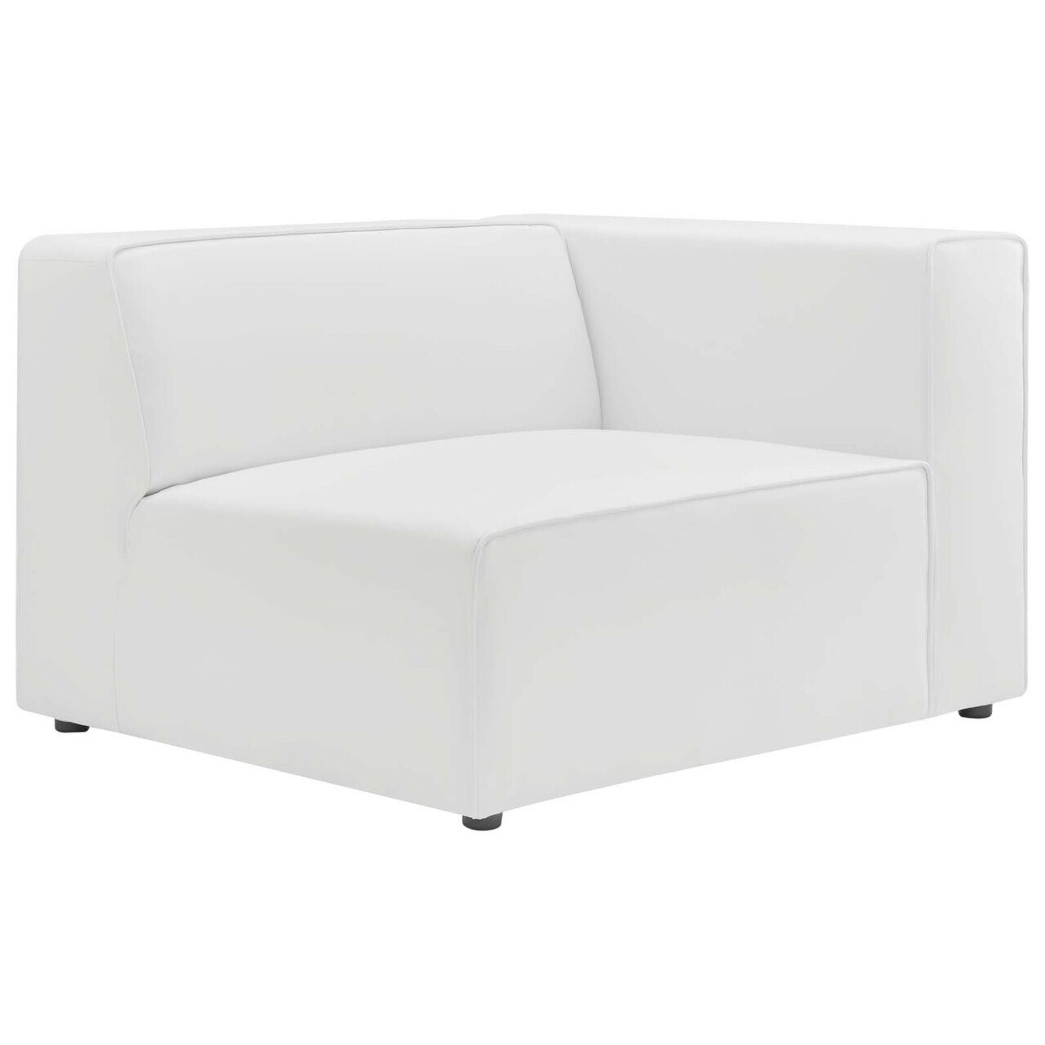 2-Piece Sectional Sofa In White Leather Finish - image-6