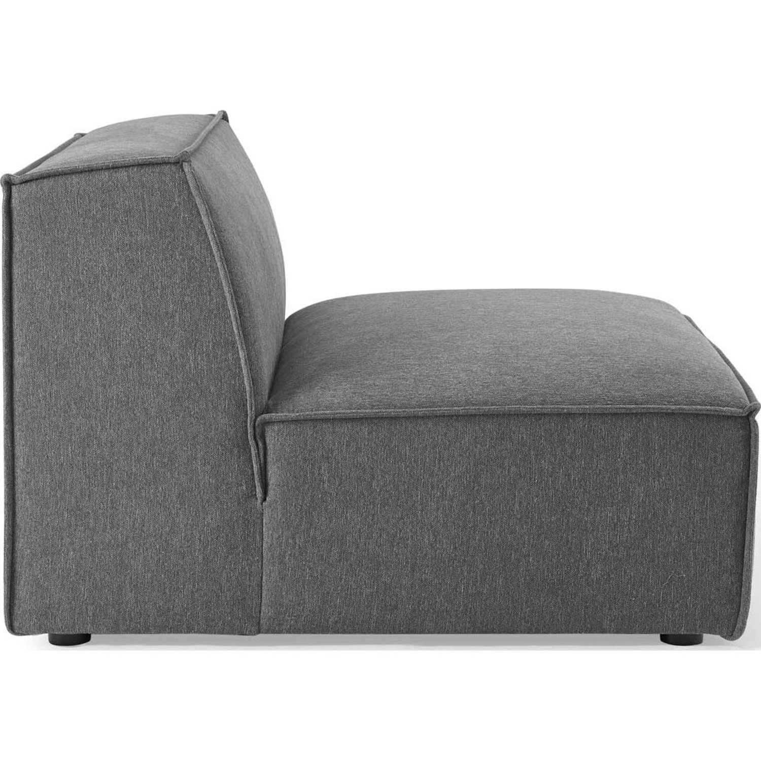 5-Piece Sectional Sofa In Charcoal Fabric - image-7