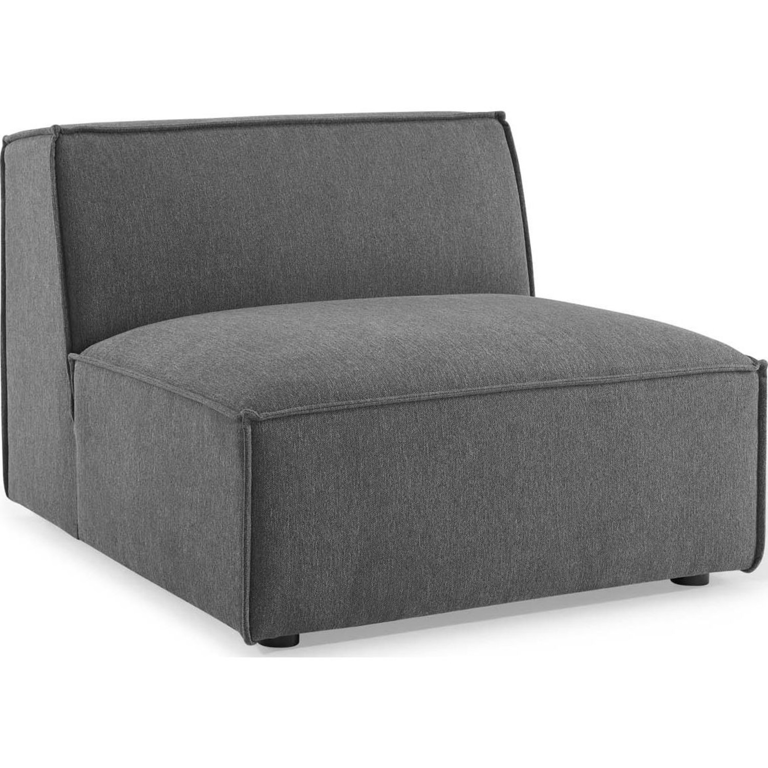 5-Piece Sectional Sofa In Charcoal Fabric - image-6