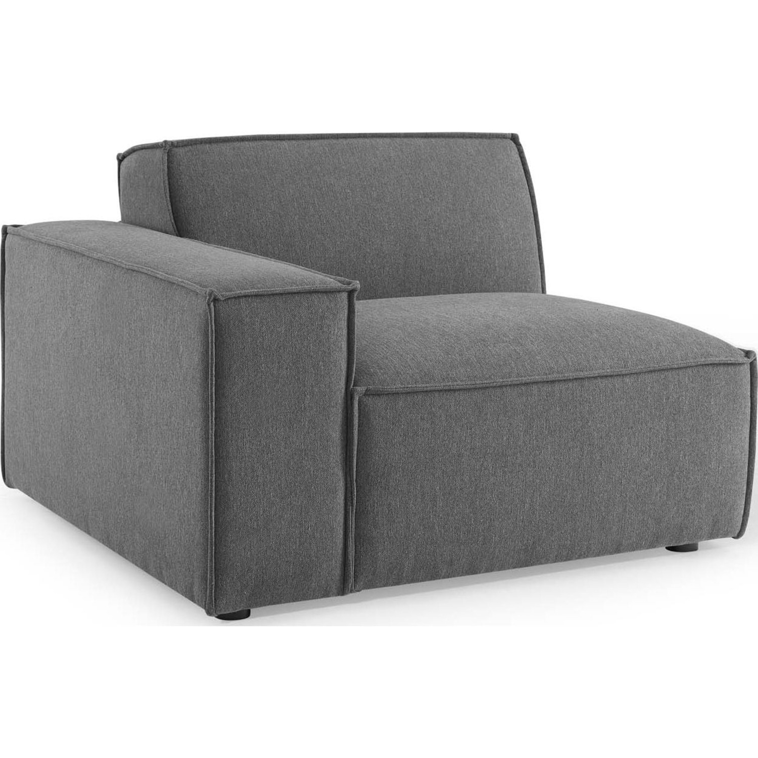 4-Piece Sectional Sofa In Charcoal Foam Padding - image-5