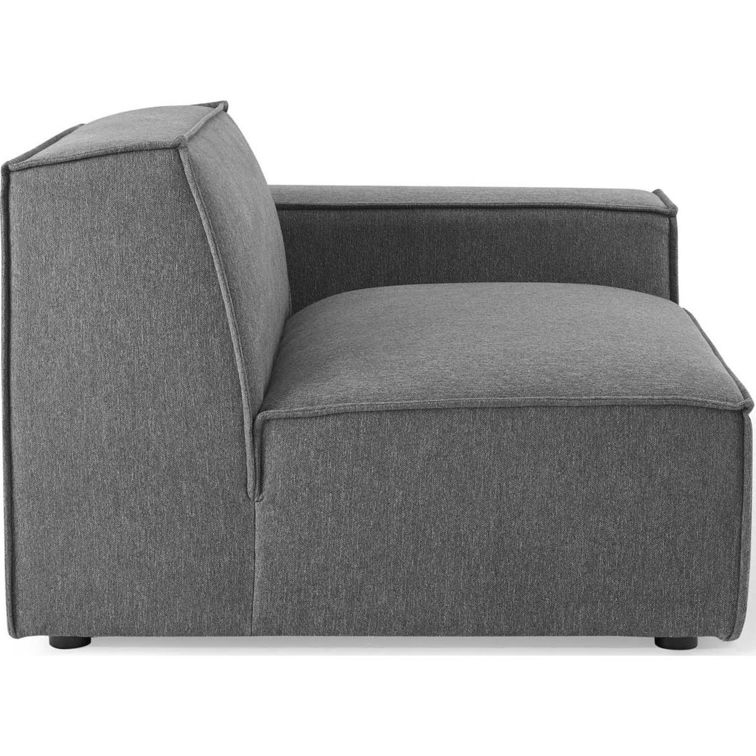 4-Piece Sectional Sofa In Charcoal Foam Padding - image-3