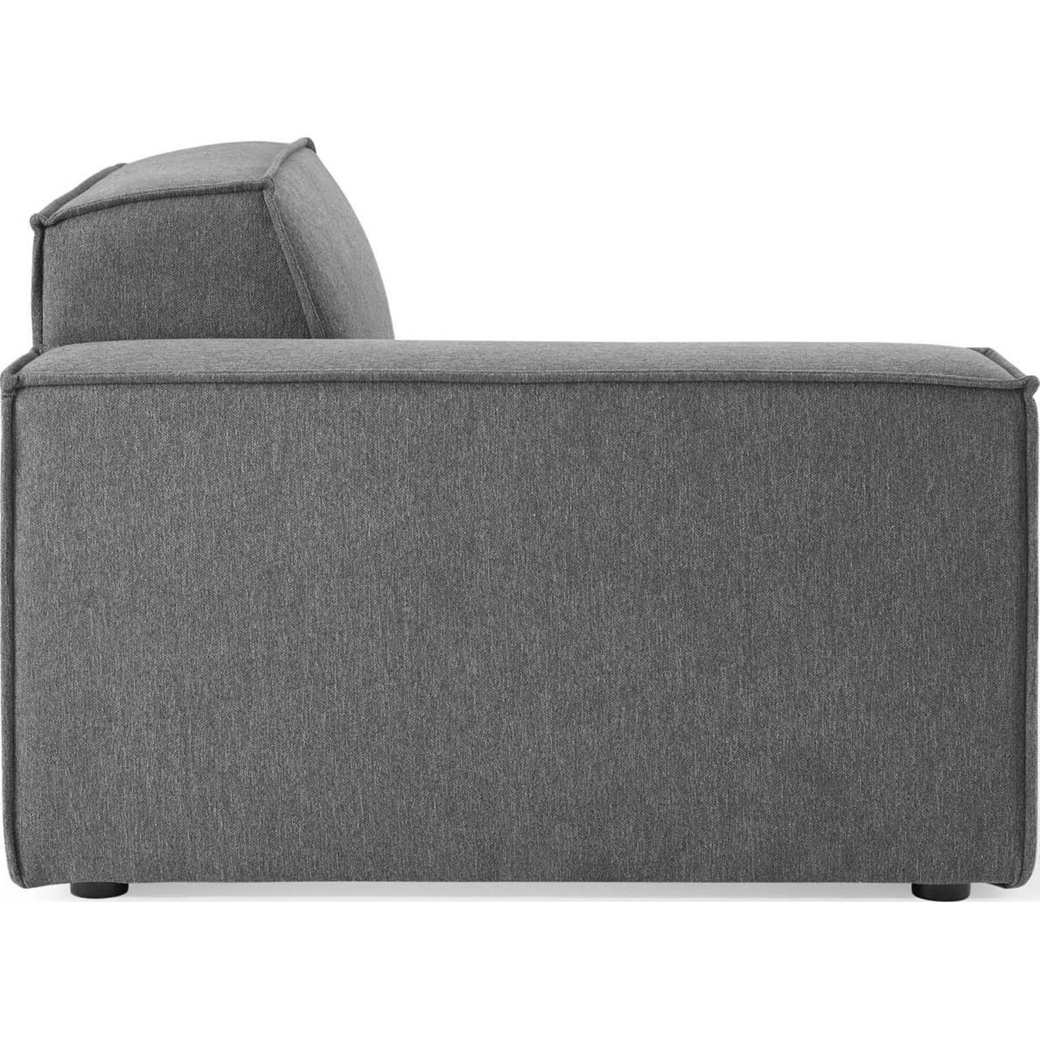 4-Piece Sectional Sofa In Charcoal Foam Padding - image-6