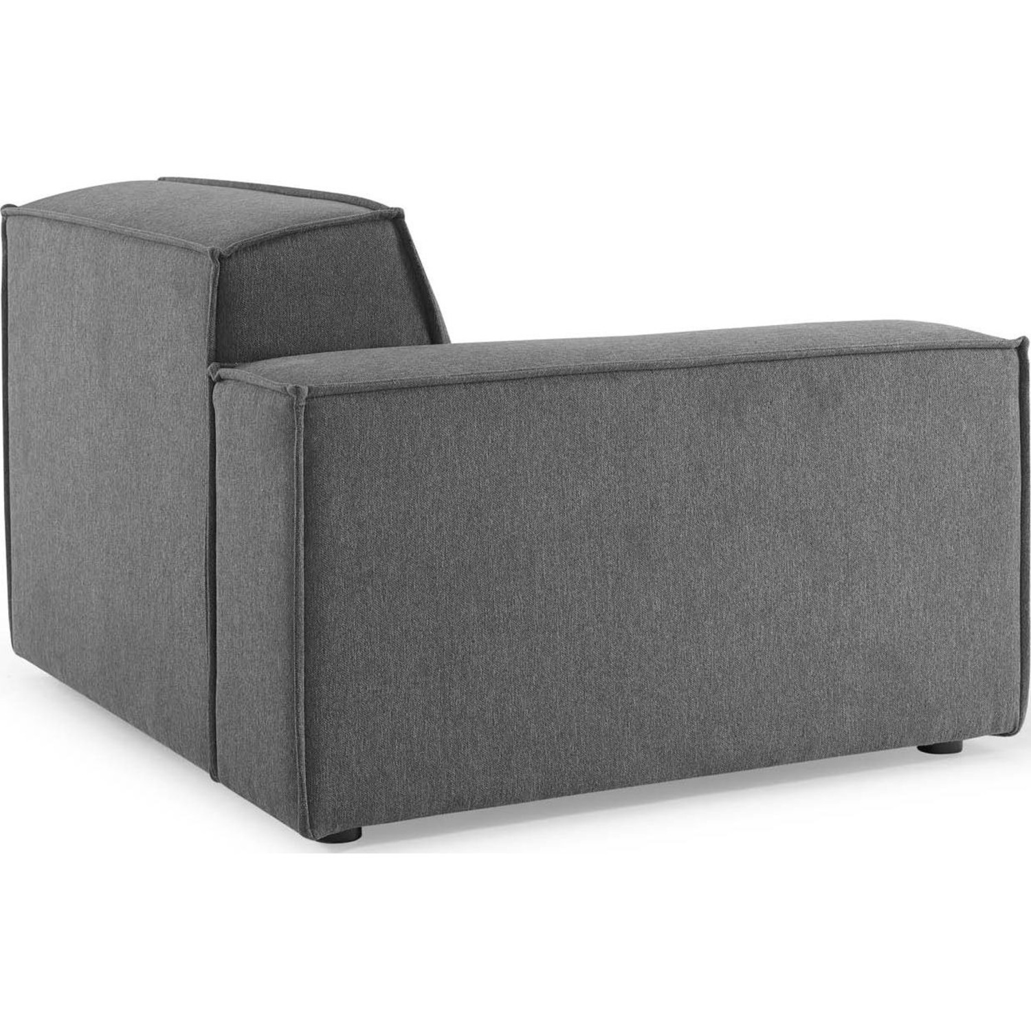 4-Piece Sectional Sofa In Charcoal Foam Padding - image-7