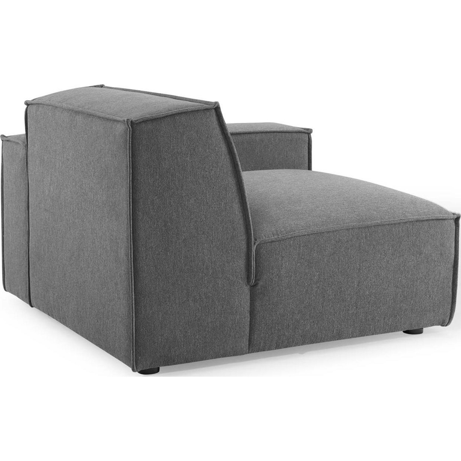4-Piece Sectional Sofa In Charcoal Foam Padding - image-4