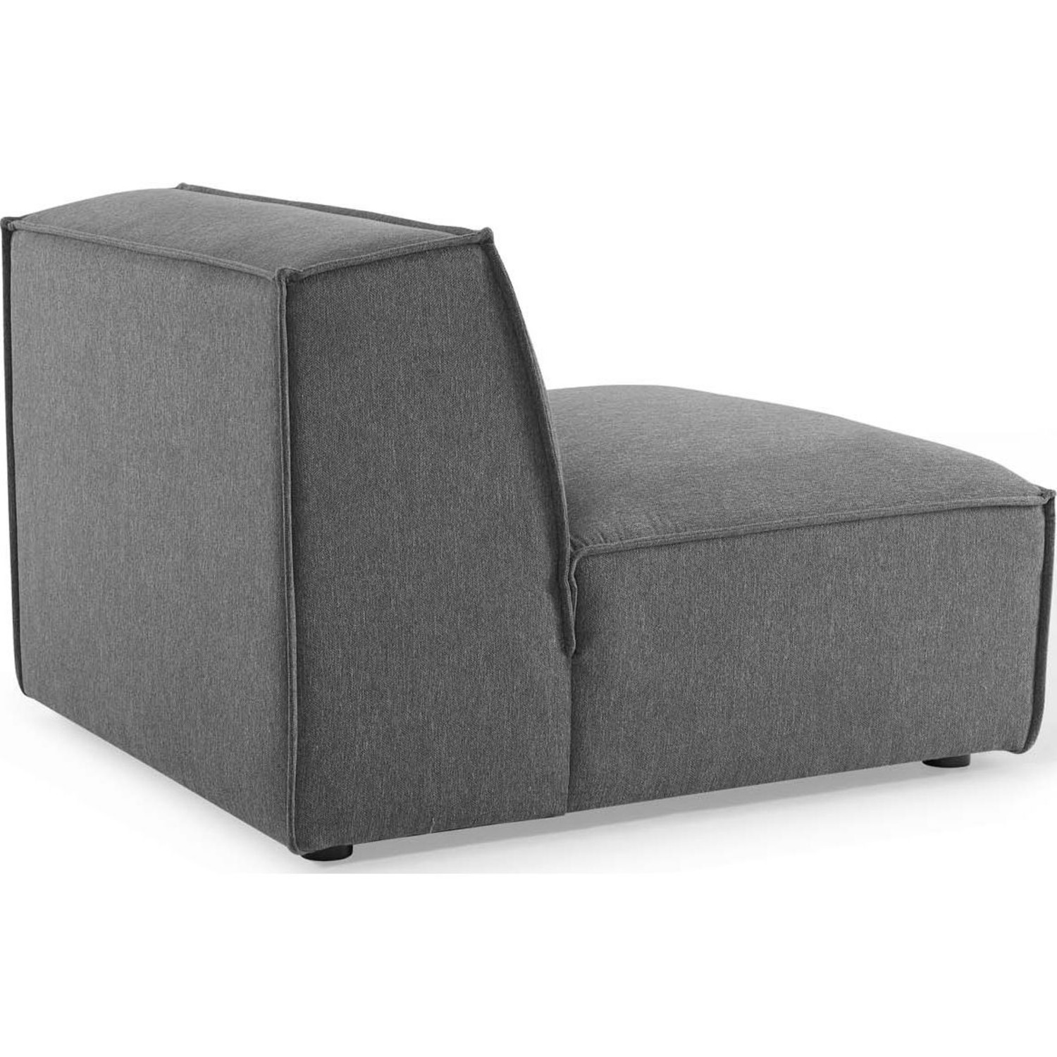 4-Piece Sectional Sofa In Charcoal Foam Padding - image-8