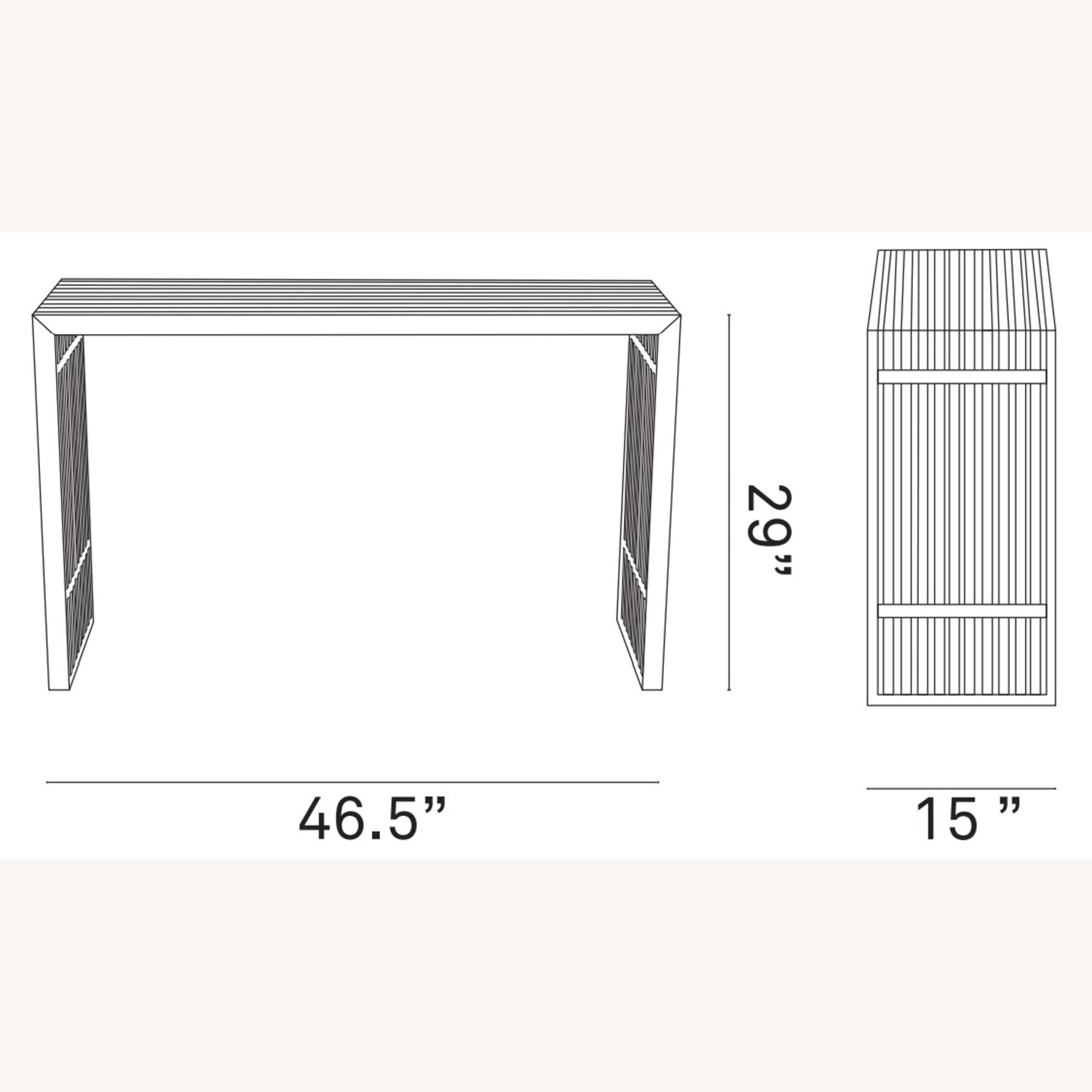 Modern Console Table In Silver Tubular Steel - image-4