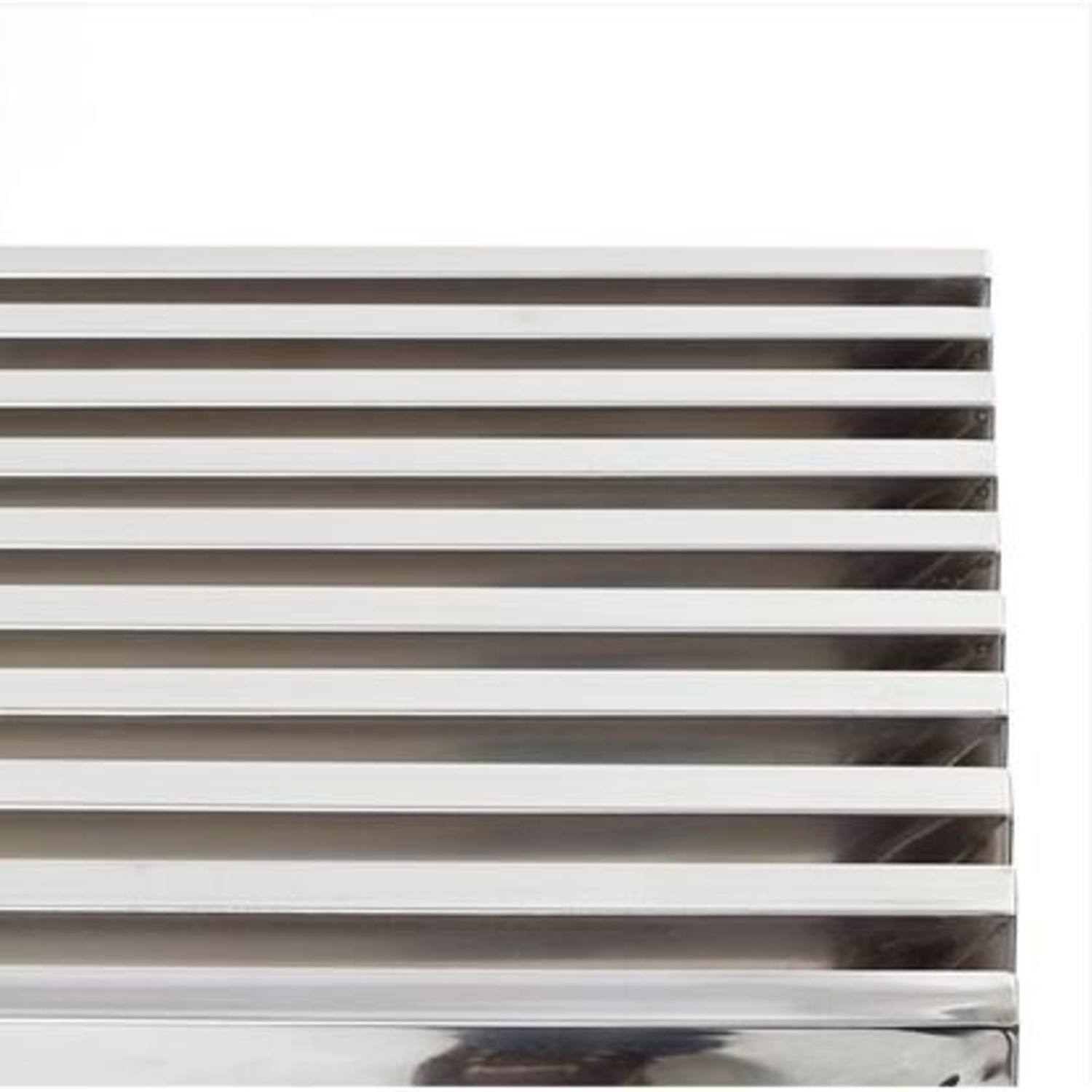 Modern Console Table In Silver Tubular Steel - image-2