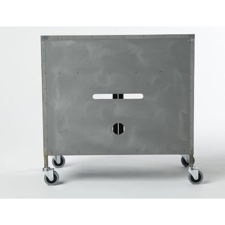 West Elm Industrial Tv Cart Raw Steel - image-1