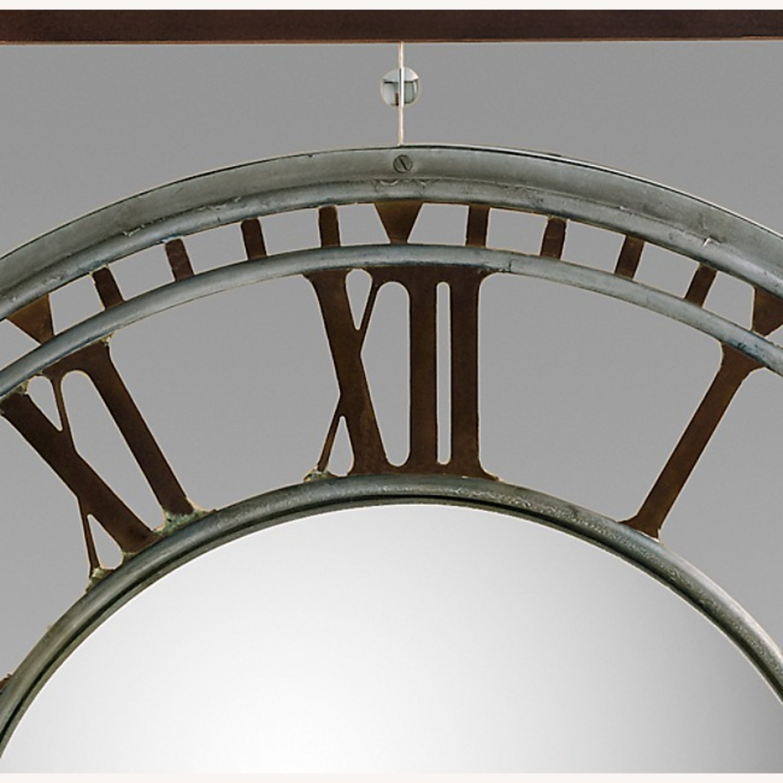 Restoration Hardware Convex Clock Mirror - image-5