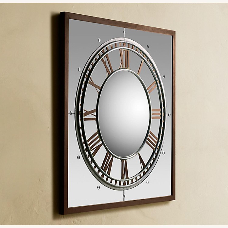 Restoration Hardware Convex Clock Mirror - image-7