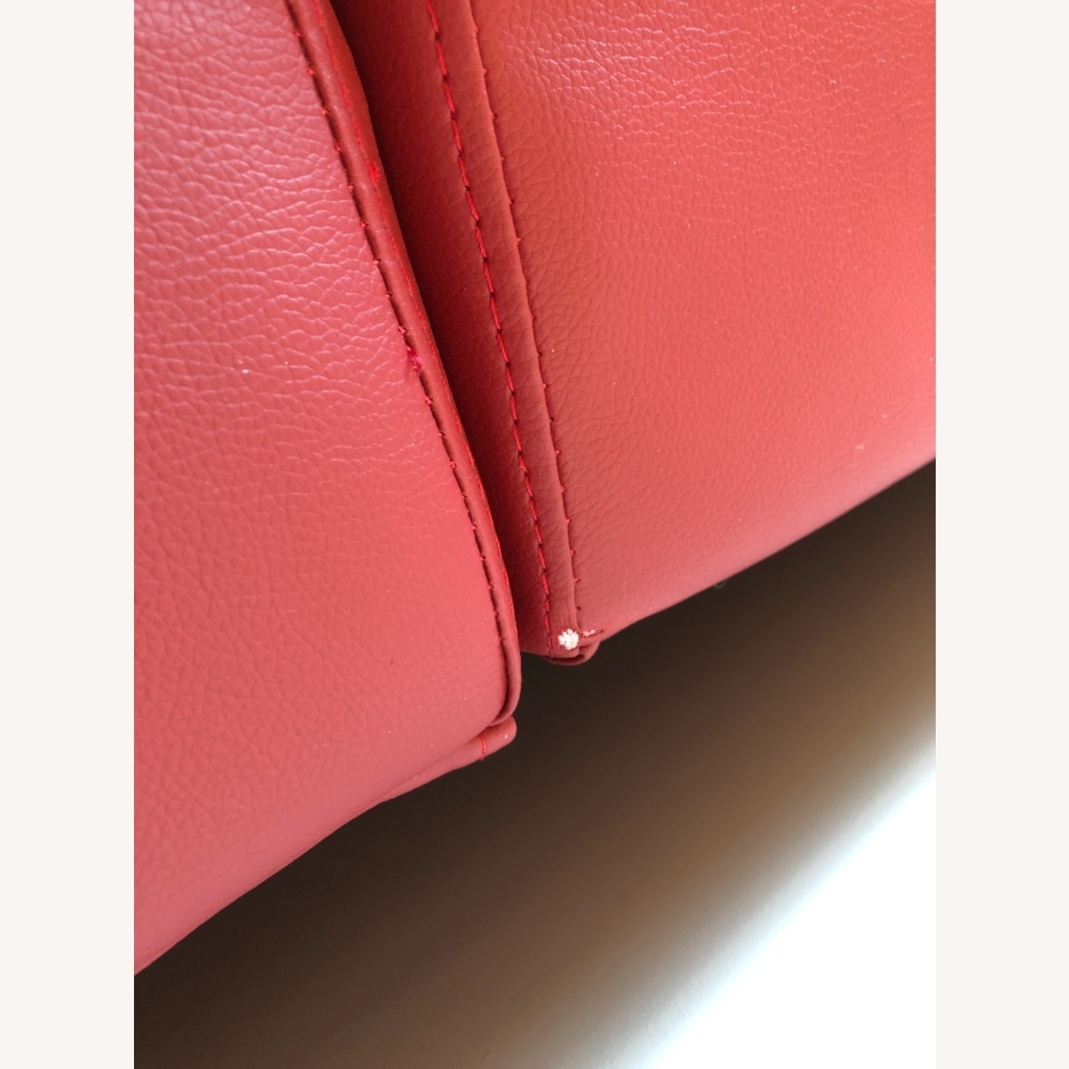 Coddle Red Leather Convertible Couch - image-4