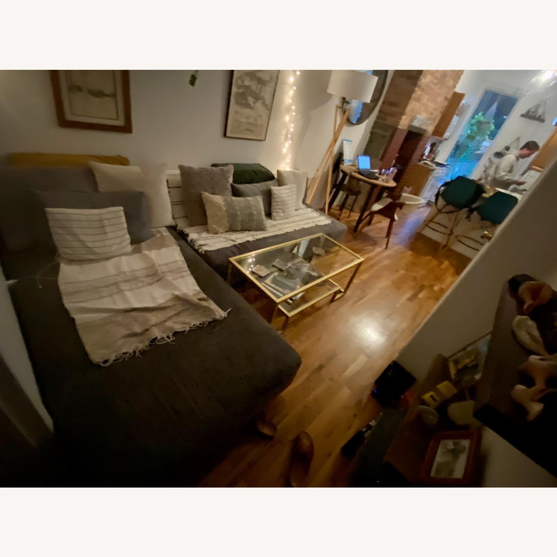 Vintage West Elm Pewter Sectional Sofa - image-4