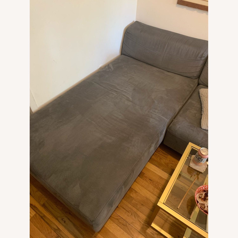 Vintage West Elm Pewter Sectional Sofa - image-6