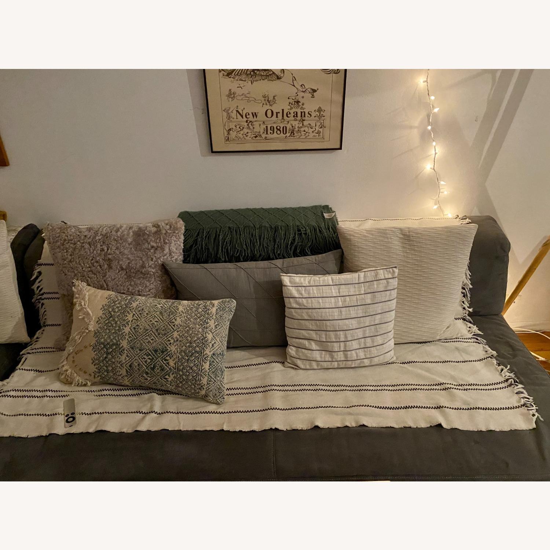 Vintage West Elm Pewter Sectional Sofa - image-2