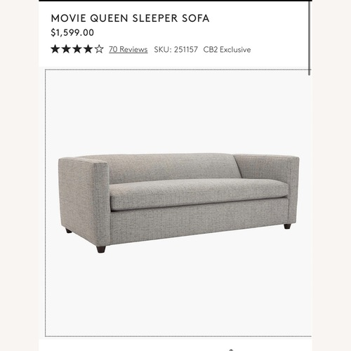 Used CB2 Movie Queen Sleeper Sofa for sale on AptDeco