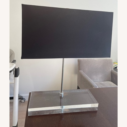 Used Jonathan Adler Lucite Base Table Lamp for sale on AptDeco