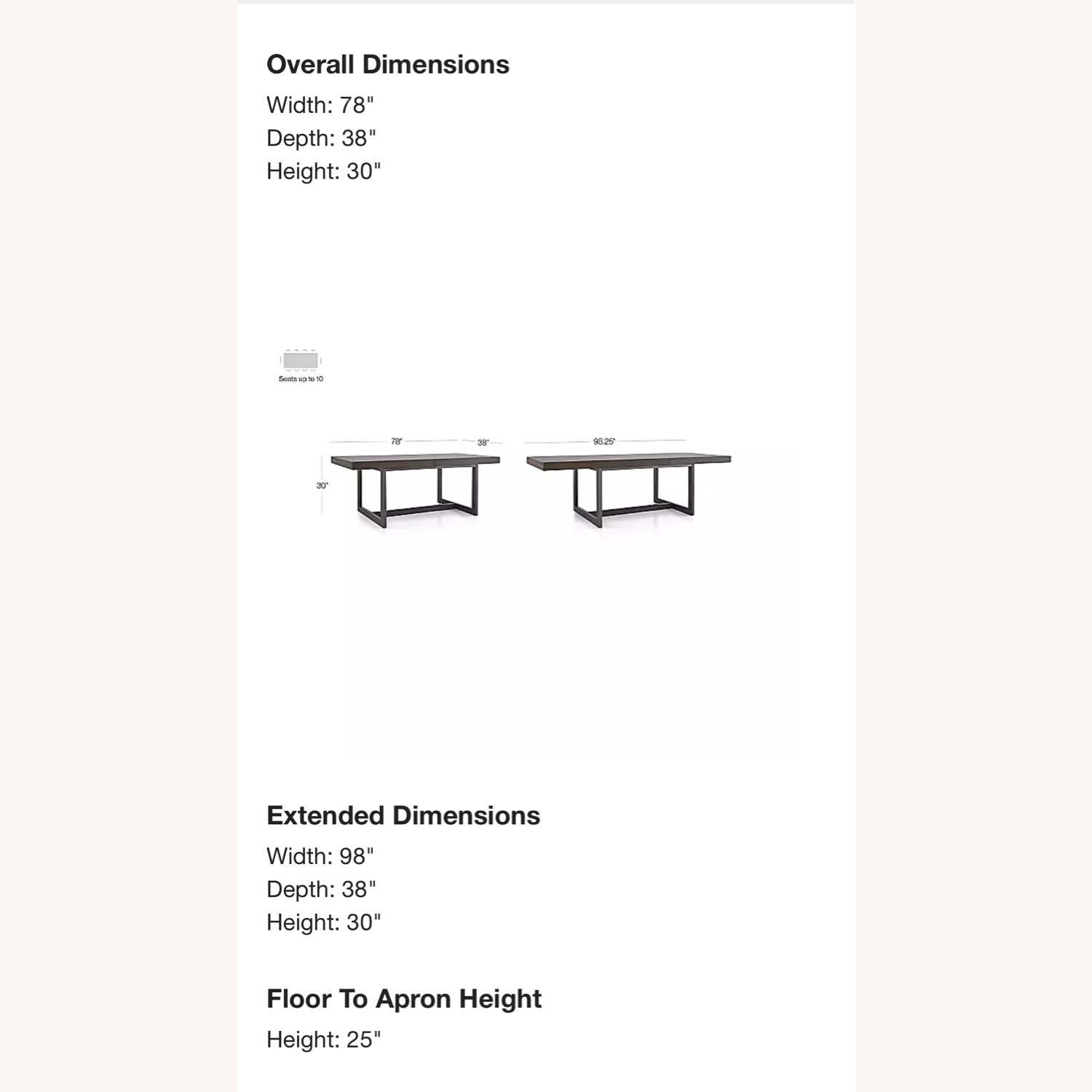 Crate & Barrel Extending Dining Table - image-1