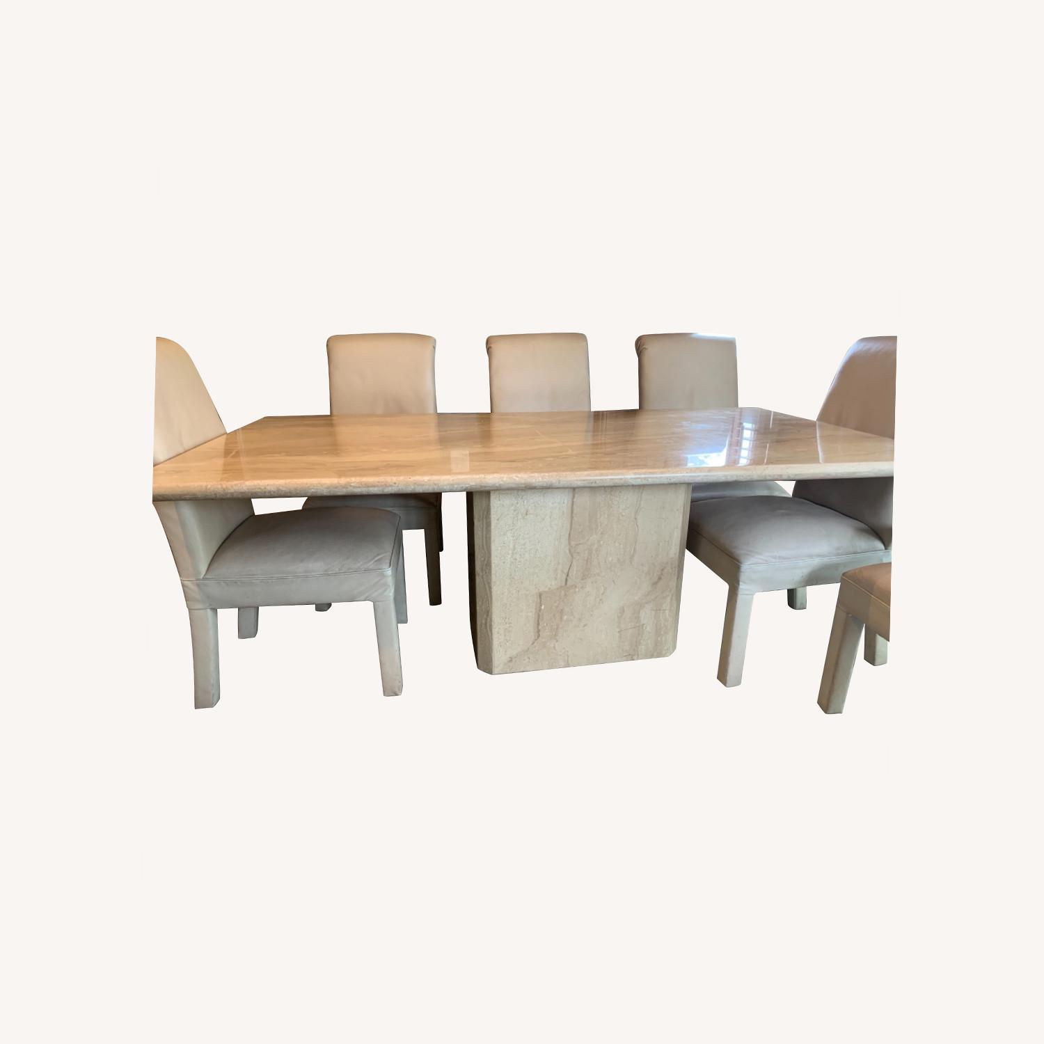 Marble Table with 6 Chairs - image-0