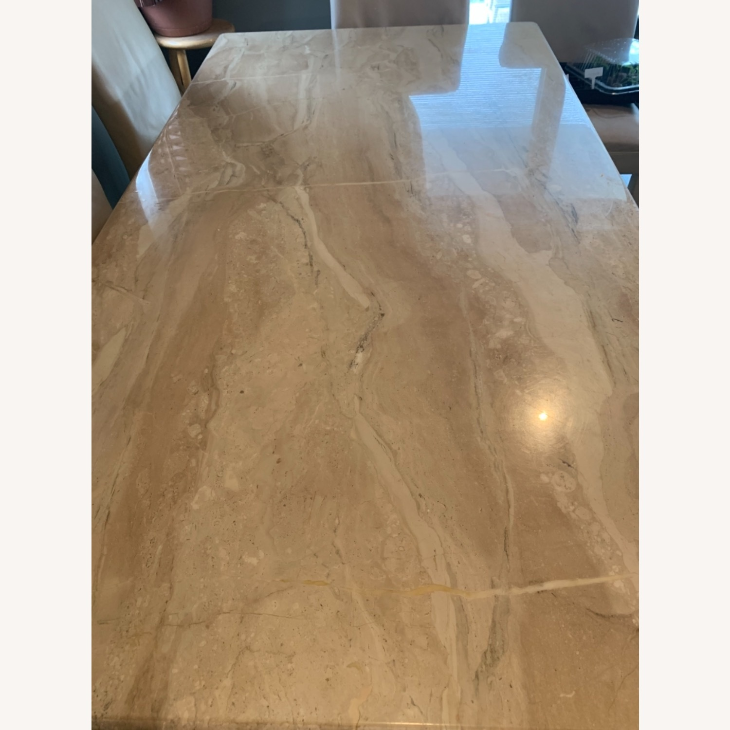 Marble Table with 6 Chairs - image-3