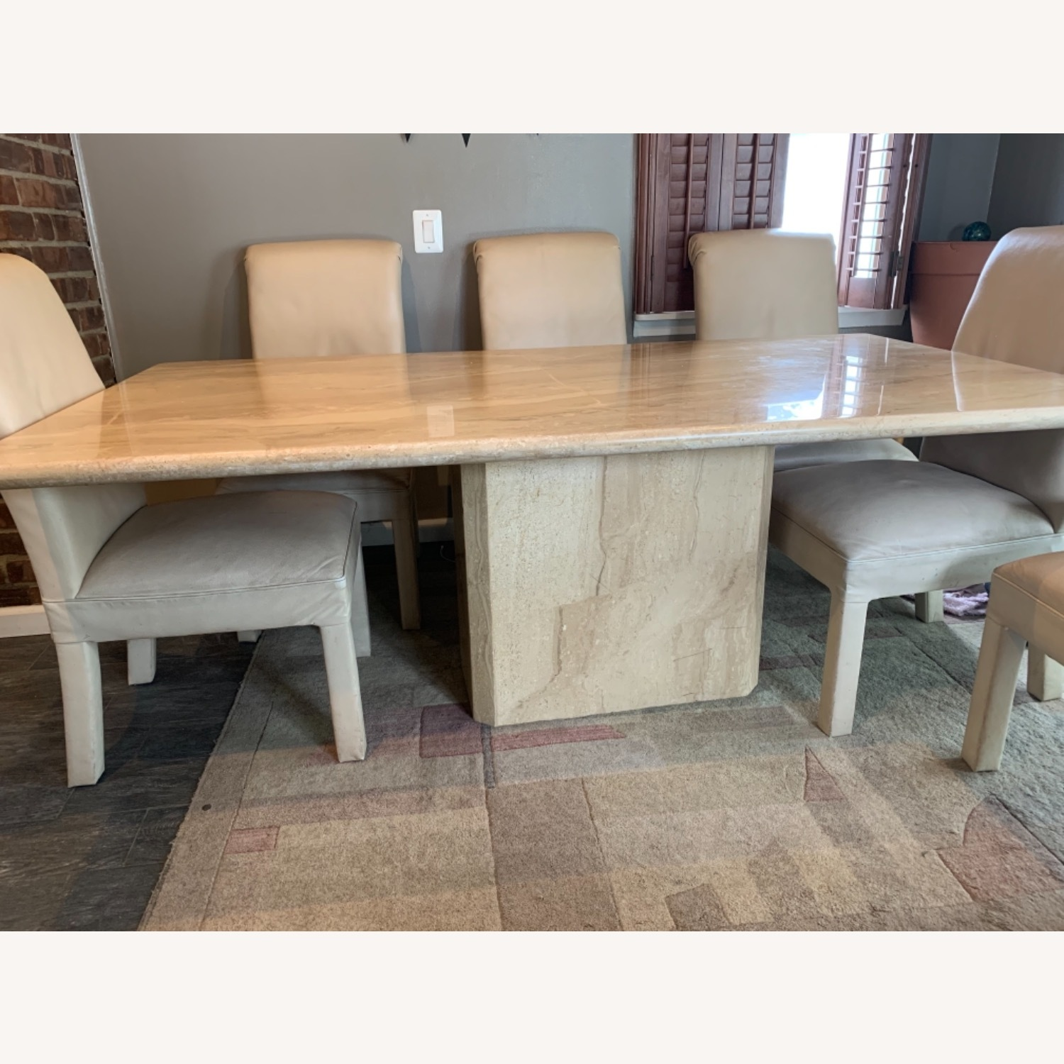 Marble Table with 6 Chairs - image-2