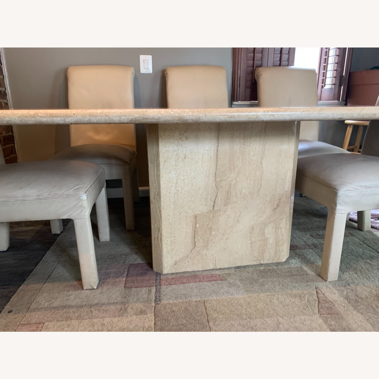 Marble Table with 6 Chairs - image-1