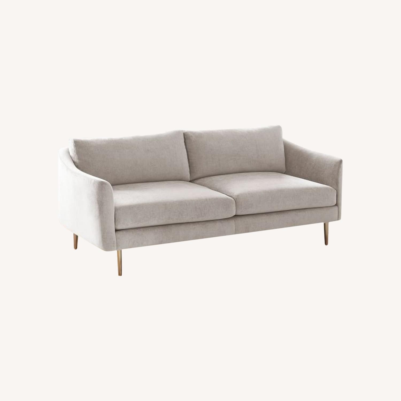 """West Elm Grey Sloane Sofa - 78"""" - image-0"""