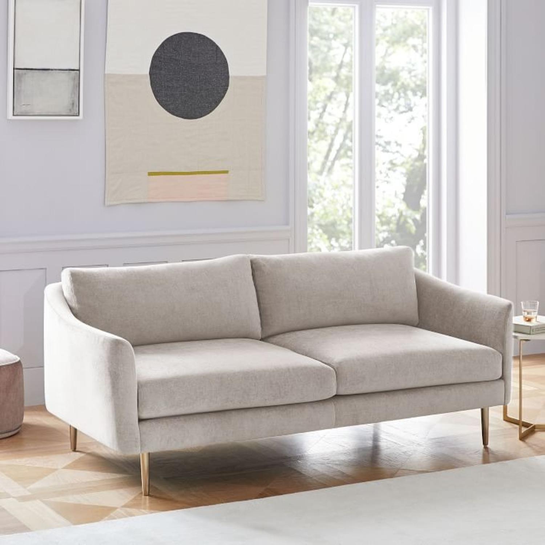 """West Elm Grey Sloane Sofa - 78"""" - image-1"""