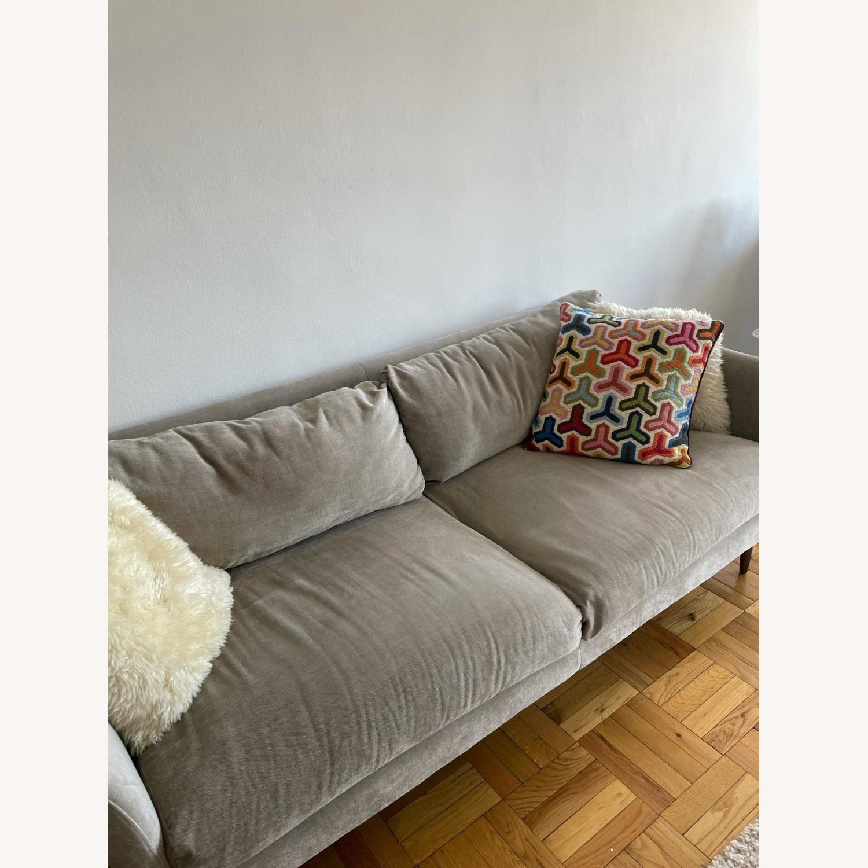 """West Elm Grey Sloane Sofa - 78"""" - image-2"""