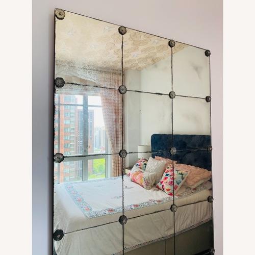 Used Restoration Hardware Antiqued Panel Mirror for sale on AptDeco