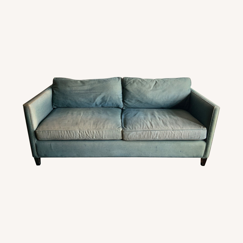 ABC Denim Blue Sofa - image-0