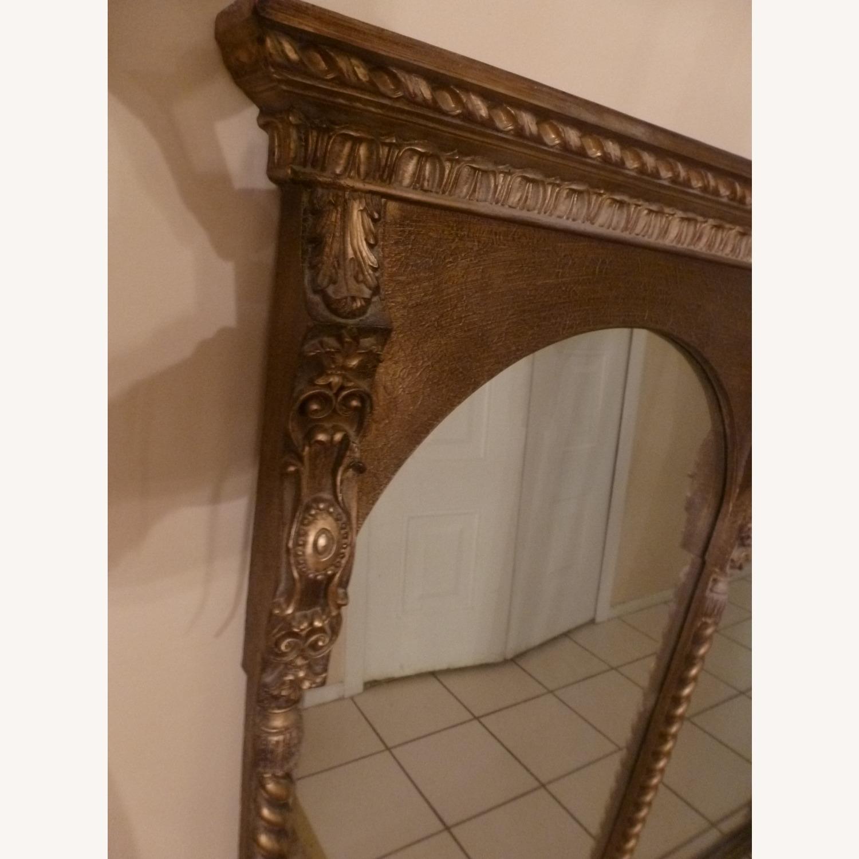 Large Wood Frame Wall Mirror - image-2