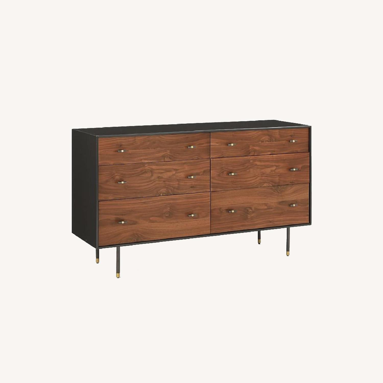 West Elm All Modern Walnut Dresser - image-0