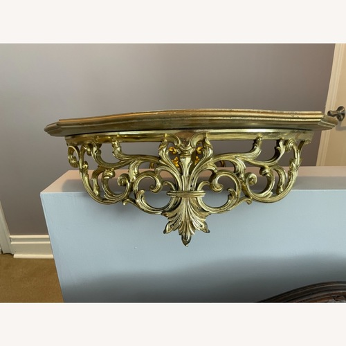 Used Gold Wall Mount Console Table for sale on AptDeco