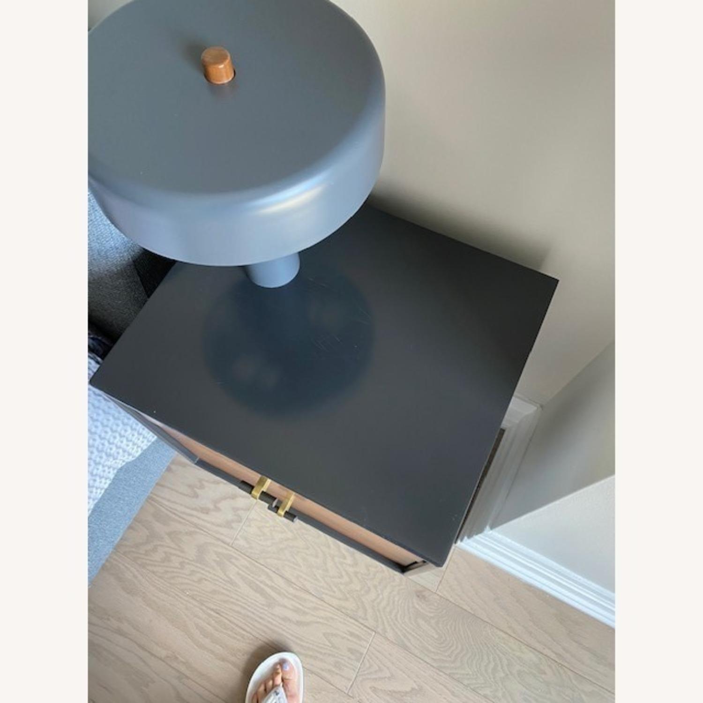 West Elm Walnut Modern Nighstand - image-3