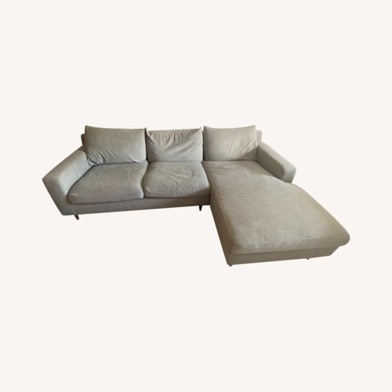 Interior Define Slate Sectional Sofa - image-0