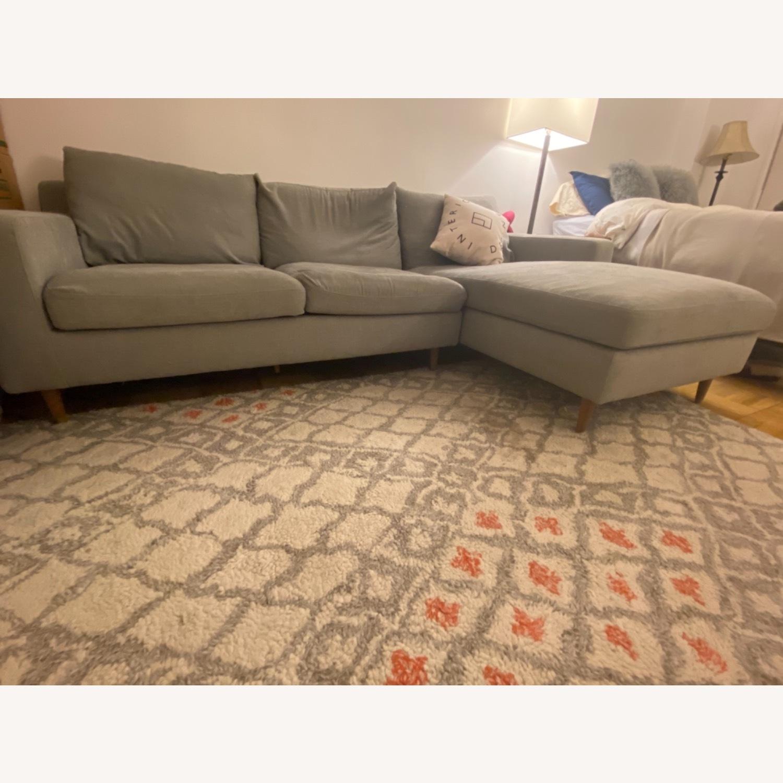 Interior Define Slate Sectional Sofa - image-5
