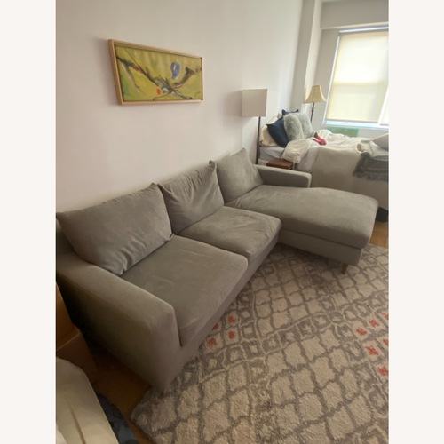 Used Interior Define Slate Sectional Sofa for sale on AptDeco