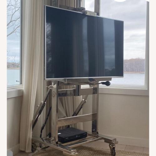 Used Restoration Hardware TV Easel - Polished Nickel for sale on AptDeco