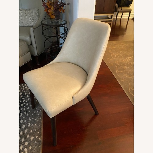 Used Barron Faux-Leather Side Chairs, Taupe (Set of 2) for sale on AptDeco