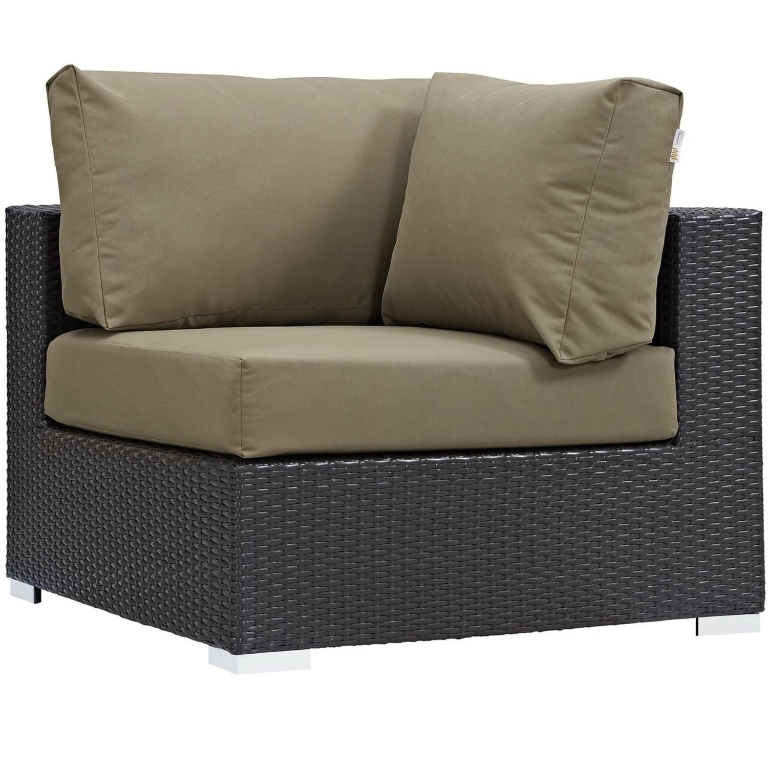 5-Piece Outdoor Sectional In Mocha Fabric Finish - image-2
