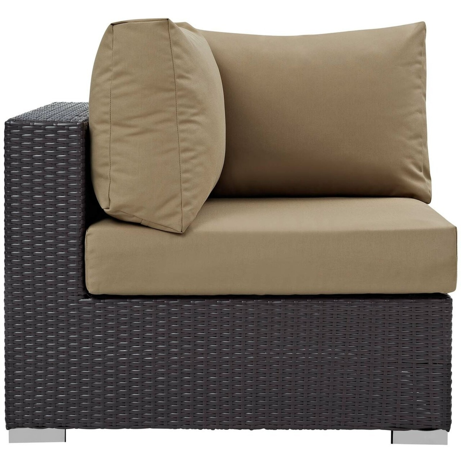 5-Piece Outdoor Sectional In Mocha Fabric Finish - image-3