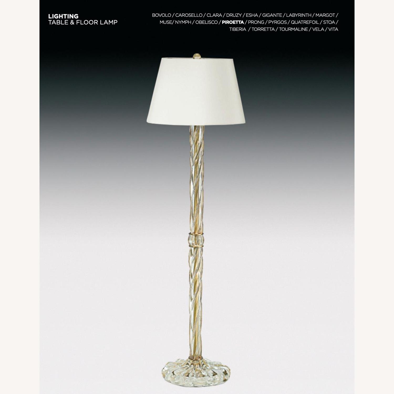 Donghia Piroetto Basso Gray Glass Floor Lamp - image-4