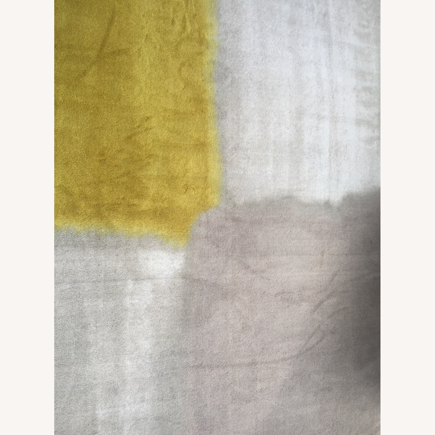West Elm Area Rug 5' x 8' Frost Gray + Yellow - image-5