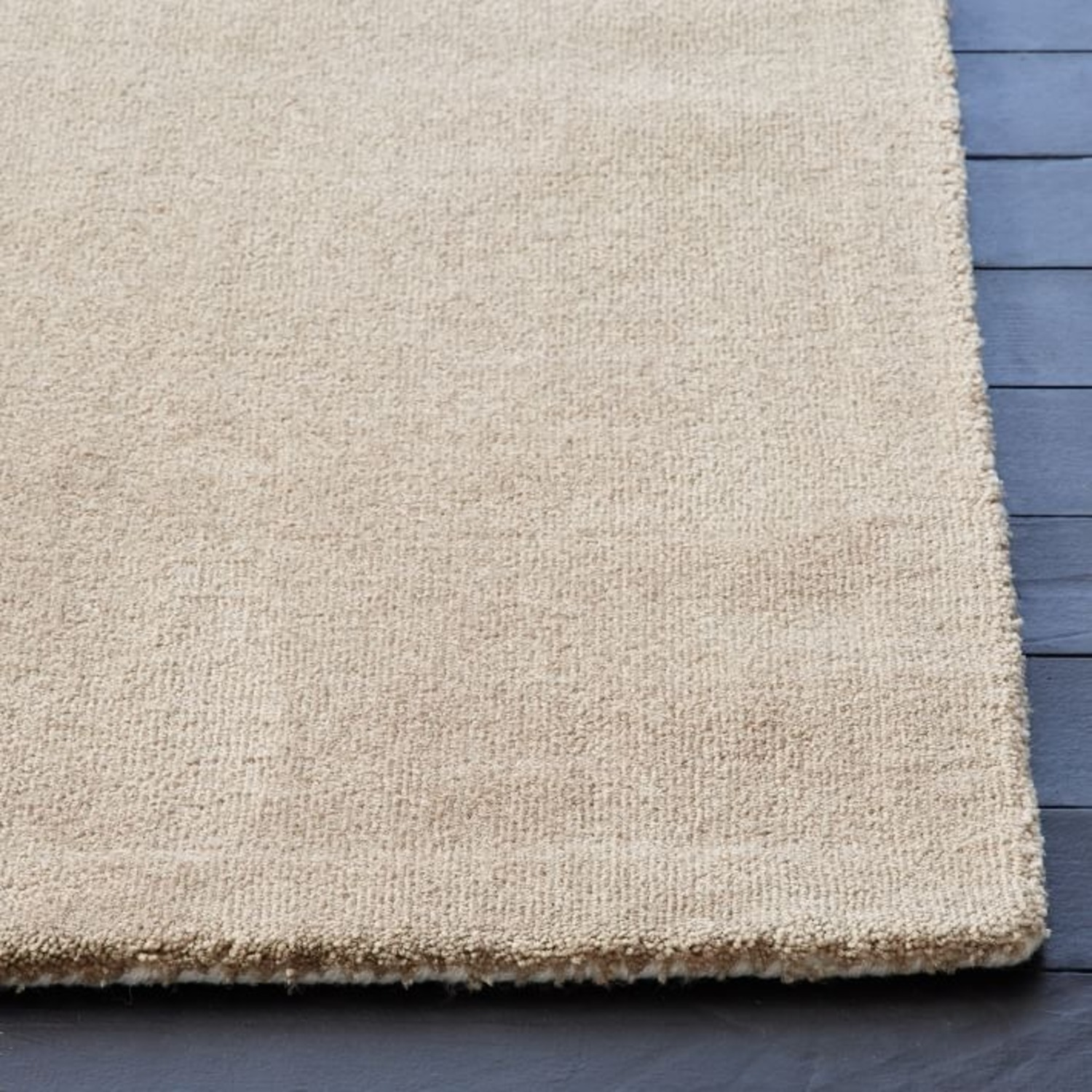 West Elm Area Rug 5' x 8' Frost Gray + Yellow - image-6