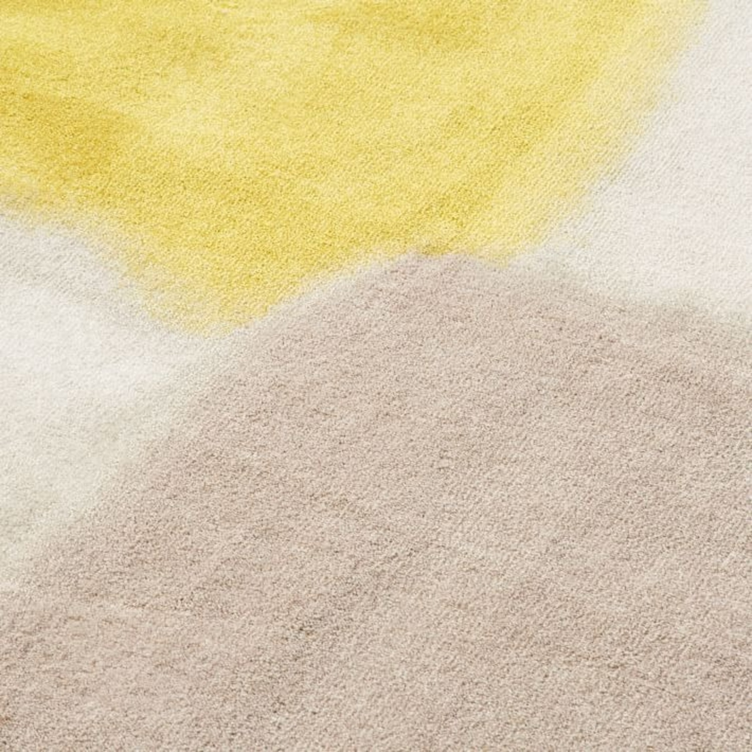 West Elm Area Rug 5' x 8' Frost Gray + Yellow - image-2