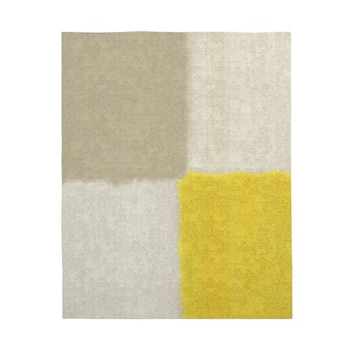 Used West Elm Area Rug 5' x 8' Frost Gray + Yellow for sale on AptDeco