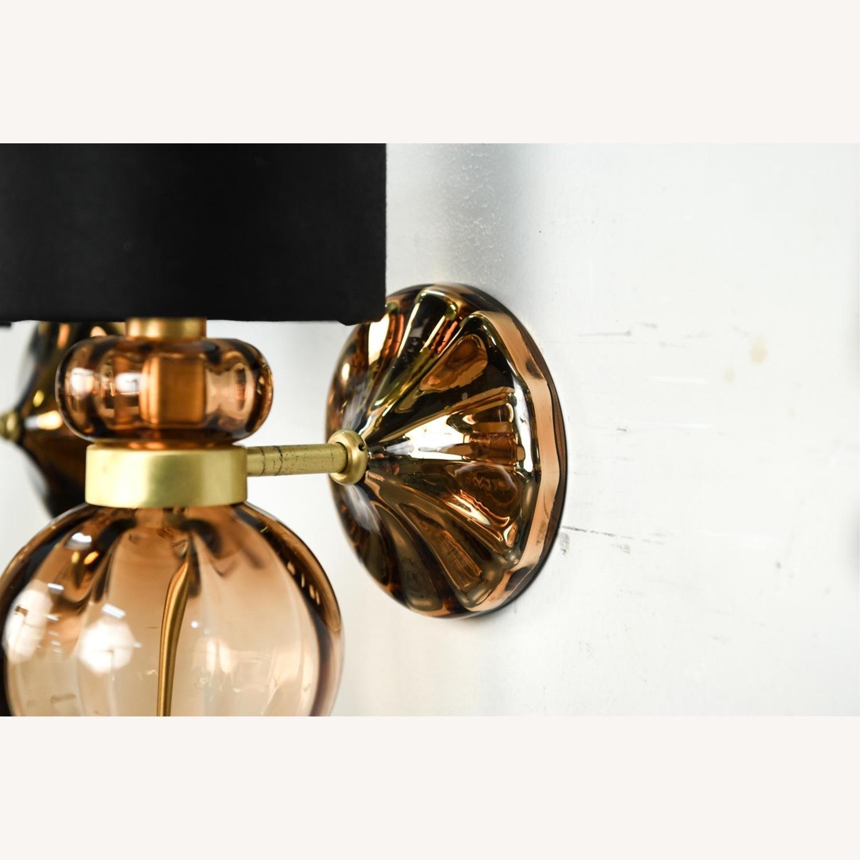 Donghia 'Regina' Glass Sconces in Sepia, PAIR - image-9