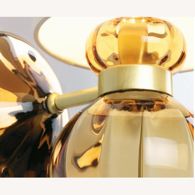 Donghia 'Regina' Glass Sconces in Sepia, PAIR - image-3