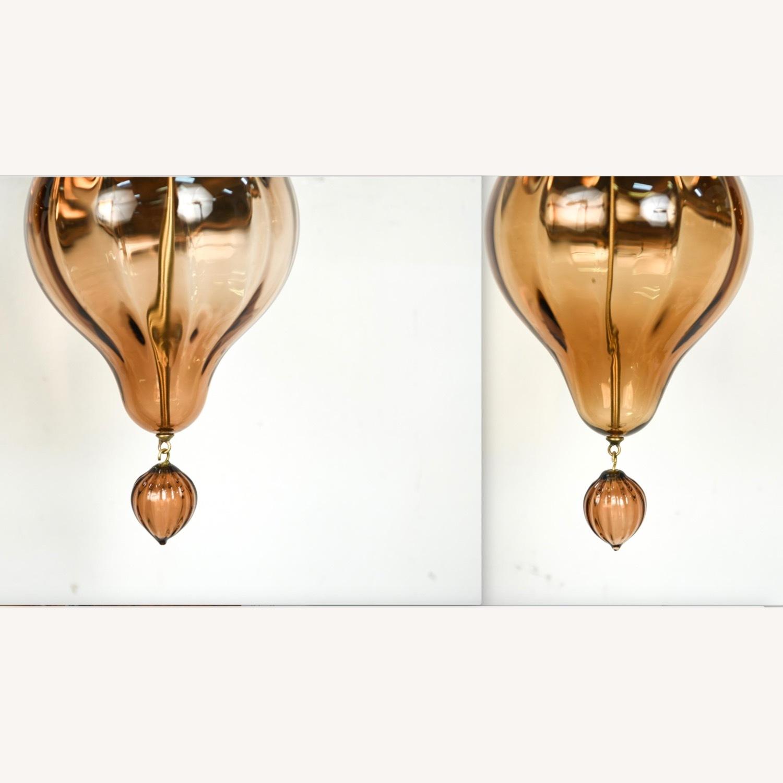 Donghia 'Regina' Glass Sconces in Sepia, PAIR - image-4